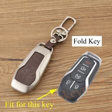 4 Buttons Key Case For Mustang Taurus Explorer F150 Key Fob Bag Box Holder Cover