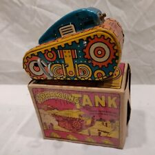 Rare1940s Marx Sparkling Tank Tin Wind-Up Toy w Original Box Works (No Sparks)😞