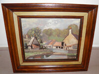 "Vtg Original Oil Painting Worth Matravers Signd 12""x14"" FRAMED Ready 2 Hang"