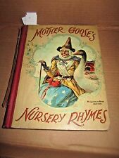 1901 Antique Mother Goose Goose's Nursery Rhymes illustrated McLoughlin Brothers