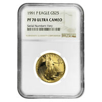 1991 P 1/2 oz $25 Proof Gold American Eagle NGC PF 70 UCAM