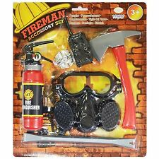 Childrens Fire Man Fighter Accessory Kit Fancy Dress Emergency Service Book Week
