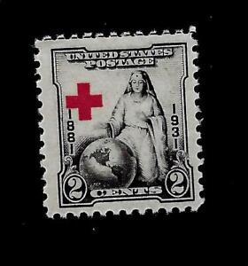 US 1931 SC# 702 - 2 Cent Red Cross  Mint H - Crisp Color -