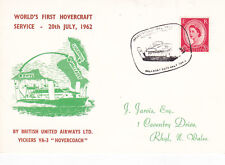 GB 1962 First Hovercraft Service B.U.A Vickers Hovercoach Postcard Used VGC