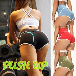 Women's Gym Fitness Sports Shorts Push Up High Waist Butt-lift Yoga Hot Pants US
