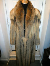 ELEGANT JAPANESE TANUKI RACCOON FUR JACKET COAT STROLLER.SOFT THICK SKINS.SZ.MED