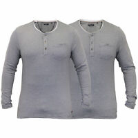 Mens Jersey Top Brave Soul Long Sleeved T Shirt Y Neck Cotton Summer Casual New