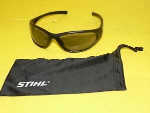 Stihl Black Safety Glasses / Sunglasses / Eye Protection w/ Free Storage Pouch