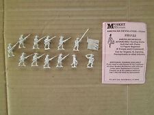 15mm Musket Miniatures American Infantry advancing ( 9 troops & 3 Command)