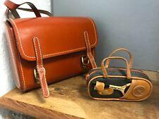 Leder Koffer / Tasche 2 Stück bis ca. 17 cm. Top Zustand