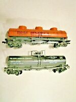 HO SCALE - TANKER CARS - LOT OF 2 - SHELL SCCX 2005 & DOW CHEMICAL GATX 62536