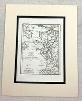 1821 Antique Map of Ancient Greece Elis Greek Triphylia Rare Old Engraving
