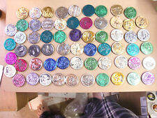 MARVEL PLASTIC SLAMMERS POGS  X-MEN, SPIDERMAN NICE LOT OF (63) MANY COLORS