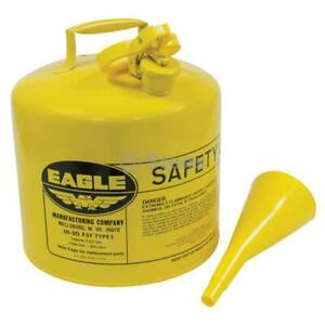 Stens 765-200 Metal Safety Diesel Can Eagle 5 Gallon With Funnel