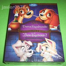 LA DAMA Y EL VAGABUNDO 1 Y 2 - DISNEY BLU-RAY PACK NUEVO Y PRECINTADO