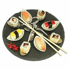 9 Piece Tapas Dish Party Buffet Food Serving Plate Ceramic Dishes NLST003-E44