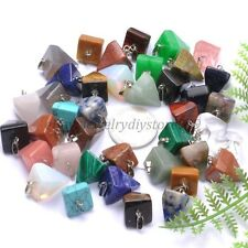 Natural Gemstones Tetragonal Pointed Reiki Chakra Healing Pendant Charms Beads
