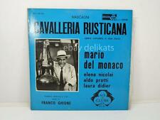 CAVALLERIA RUSTICANA Mascagni Del Monaco DECCA 2 dischi 33 giri vintage