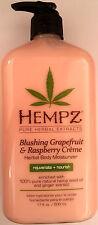 Hempz Blushing Grapefruit & Raspberry Creme Herbal Moisturizer After Tan Lotion