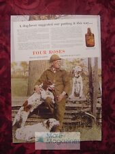 1936 Esquire Advertisement Four Roses Field Dogs Setter Spaniel