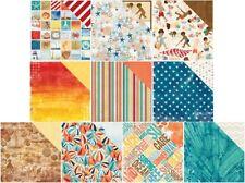 10 Sheets Bo Bunny BOARDWALK 12x12 Scrapbook Paper Beach Ball Sea Shells Summer
