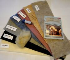 7 fogli feltro di lana LEHNER da cm.15x50 + 1 manuale + multiago + lana cardata