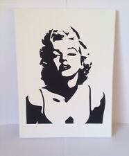 Marilyn Monroe 30 x 40 cm Black and White Canvas Box Frame Painting