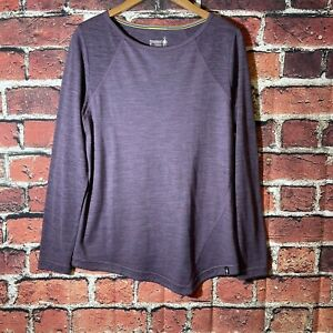 Smartwool Women's Merino Wool Purple Long Sleeve Top Size Medium