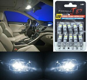 LED 3030 Light White 5000K 194 Ten Bulbs License Plate Tag Replace Lamp Philips