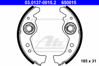 Rear Brake Shoe Set For Fiat Seat Lancia Autobianchi FSO Abarth:UNO,PANDA,RITMO