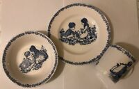 Alfred Meakin Blue 3 Piece Childs Set Plate Bowl Cup