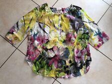 Neue bunte Bluse mit Blumenmotiv  von Milano Italy in Gr.46