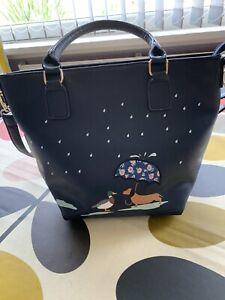 Dachshund Bucket Bag Navy Blue