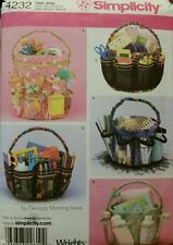 New Crafts Bucket Covers Organizers Storage Sewing Pattern/Simplicity 4232 Uncut
