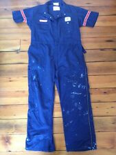 United Airlines Mechanic Coveralls Jumpsuit USA Distressed Union Made 48 Reg