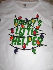 """""""DADDY'S LITTLE HELPER""""  CHRISTMAS ONE PIECE SIZE: 3-6 MONTHS NWT"""