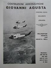 6/1961 PUB AGUSTA BELL HELICOPTER HUBSCHRAUBER HELICOPTERE ORIGINAL GERMAN AD