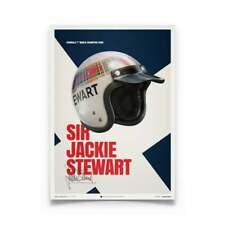 Unique & Limited Poster Sir Jackie Stewart F1 Helmet 1969 50 x 70 cm