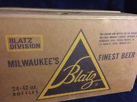 Vintage 1960 Blatz Beer Case For 24 12oz Bottles
