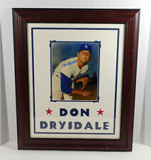 Don Drysdale Signed Photo with Name in Matting Dodgers Auto Framed DA025279