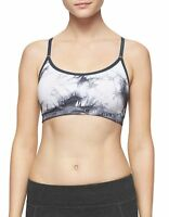 New Calvin Klein Performance Women's Tie-Dyed Printed Padded Sports Bra PFYT3486