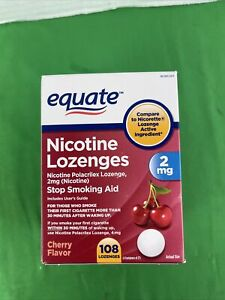 Equate Nicotine Lozenges Stop Smoking Aid Cherry 2mg 108 Lozenges Exp 01/22