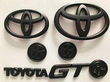 Set All Black Toyota GT86 Scion FRS Matte Grille+Trunk+Fender Badge Emblems 2017