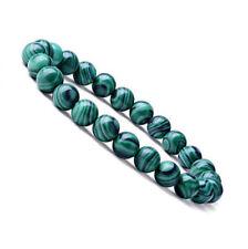 Natural 8mm Malachite Healing Crystal Stretch Beaded Bracelet Unisex