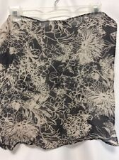 "St. John scarf black white floral 100% silk Made in Italy 18"" square CLASSY/FUN"
