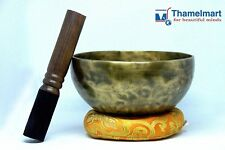 "6.5""Tibetan Meditation,Singing bowl with mallets-Hand beaten bowl,Handmade Nepal"