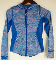 Ivivva Lululemon Hoodie Jacket Girls Size 10 Full Zip Up Sweatshirt Blue    y