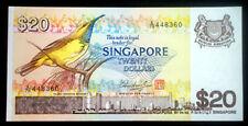 1979 SINGAPORE 20 Dollars P-12 Bird Series UNC .