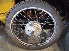 73 Suzuki TC 125 Front Wheel w Axle Nut Brake Hub 2:75X19 NICE TS 125 185 OEM T2