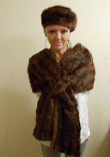 Vintage Annis Furs Detroit New York Red Squirrel Stole Wrap Shawl Muskrat hat